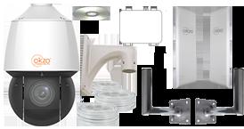 Pack Okzo avec liaison par émetteur et récepteur numériques 500m