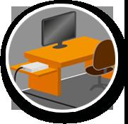 Box internet bureau bâtiment agricole