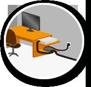 Box internet bureau maison